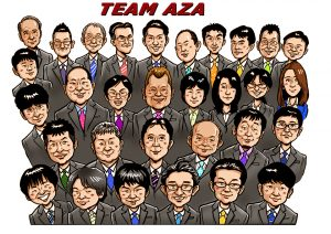 AZAエンジニアリング株式会社似顔絵