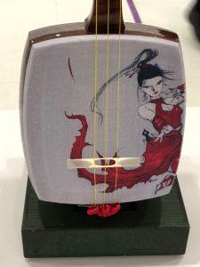天野喜孝とのコラボ三味線 記者発表会