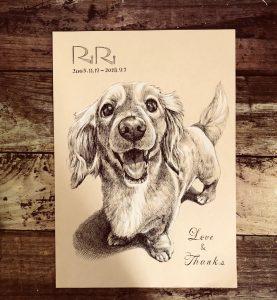 ペン画製作『愛犬のリリちゃん』
