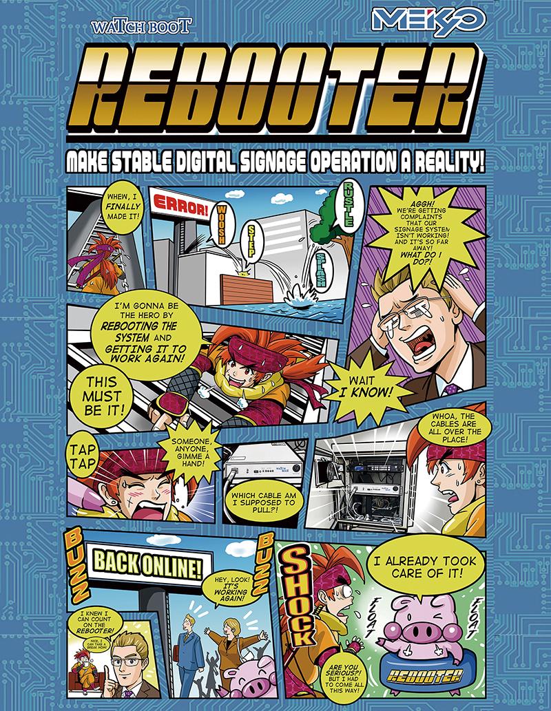 米国で展示会用の販促漫画制作