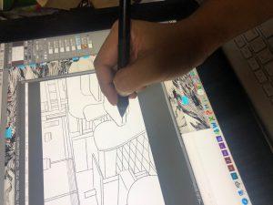 漫画制作現場